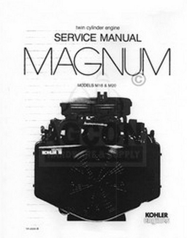 Kohler Magnum m16s Parts manual