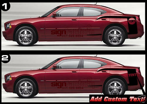 Dodge Charger Accessories >> 2006 07 08 09 Dodge Charger Side Stripes Decals CUSTOM | eBay