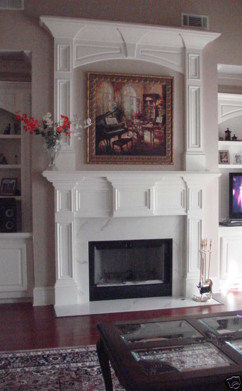 Custom Made Wooden Double Mantel Mantle Quot Envy Quot Ebay
