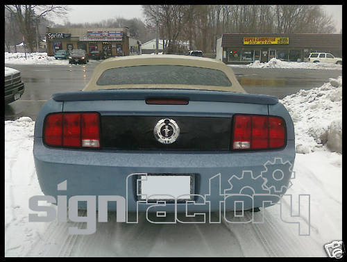 2005 2009 Ford Mustang Trunk Deck Lid Blackout Decal Ebay