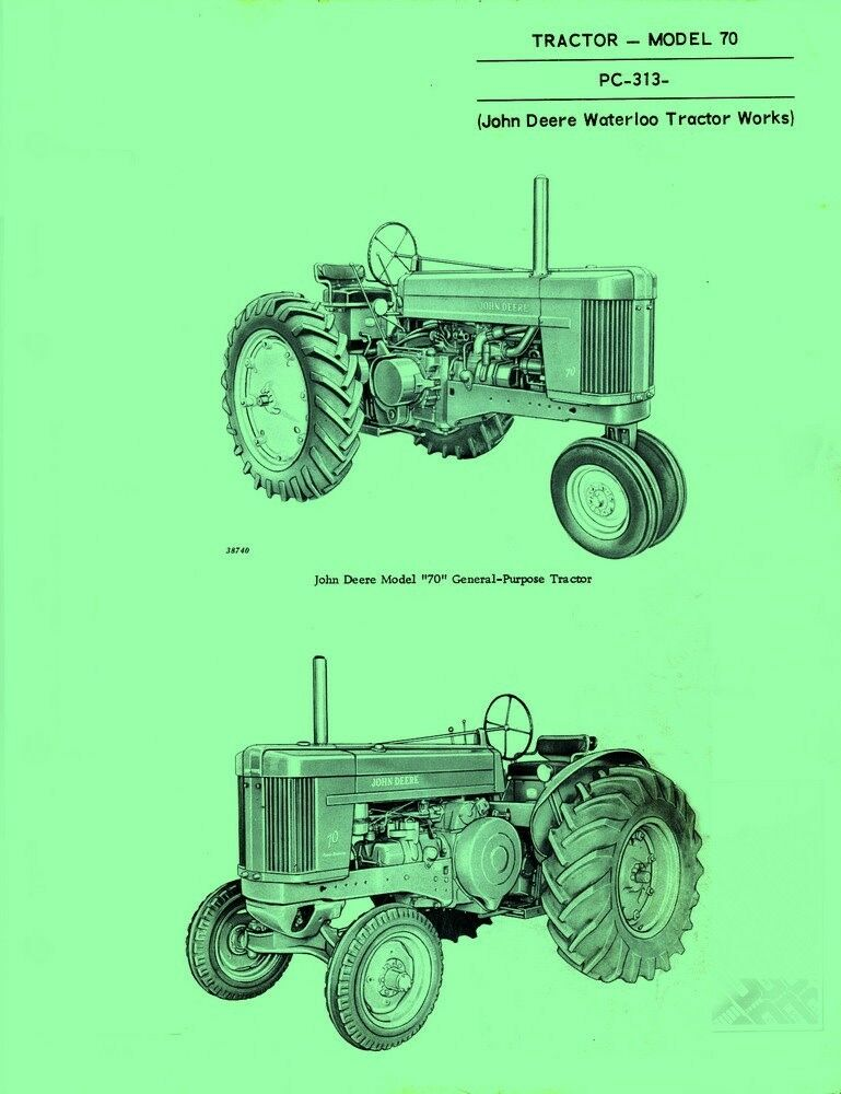 Old John Deere Tractor Parts : John deere all model tractor parts manual catalog jd ebay