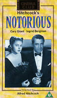 ALFRED HITCHCOCK'S NOTORIOUS (Cinema Club PAL VHS Video) (Grant/Bergman)