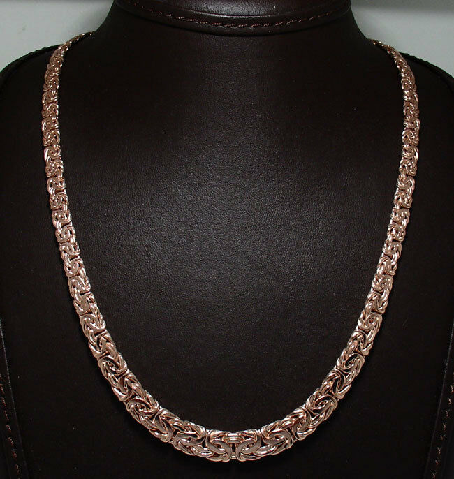 graduated byzantine necklace 14k pink rose gold 18 20 ebay. Black Bedroom Furniture Sets. Home Design Ideas