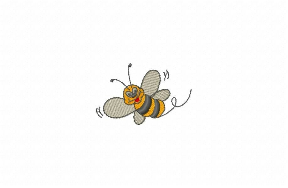 Busy bee machine embroidery designs on multi formatted