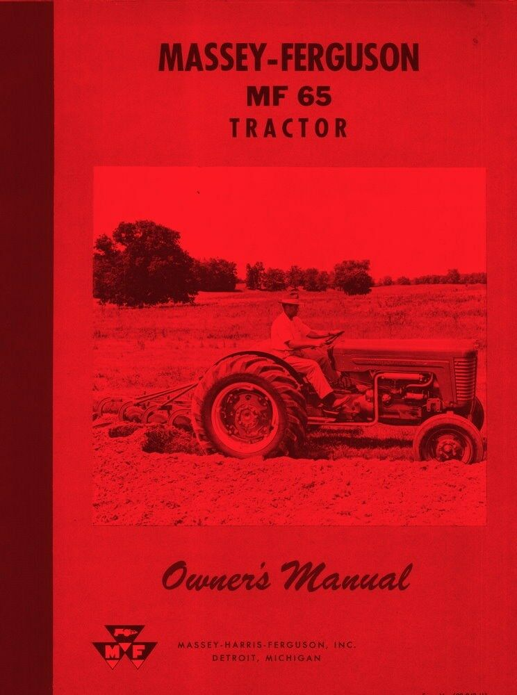 massey ferguson mf65 mf 65 gas owners operators manual ebay Owner's Manual User Manual