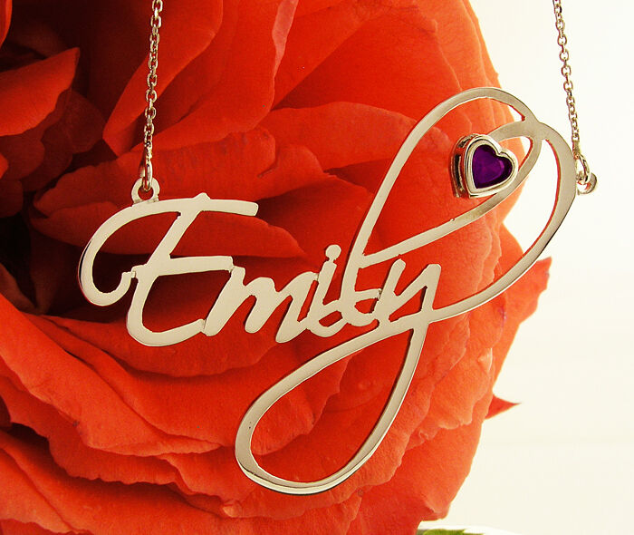 Personalized sterling silver 925 name necklace ebay