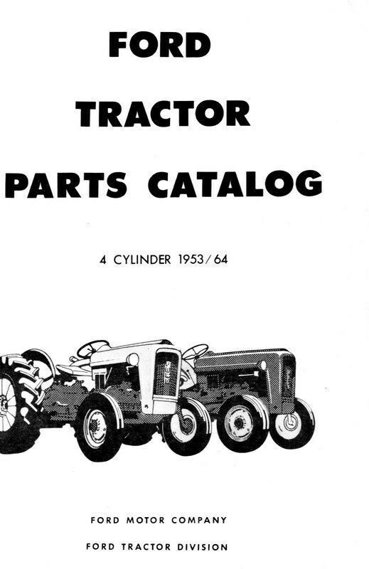 Old Ford Tractor Decals : Ford tractor parts manual naa  ebay