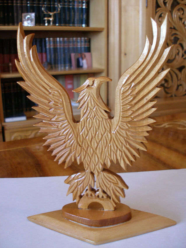 Eagle Carved Wood Sculpture By Stelica Covaci Ebay