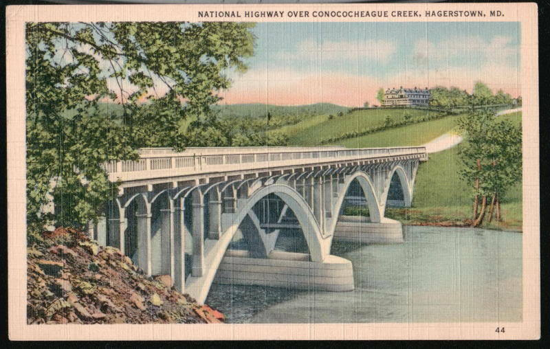 Martins Hagerstown Md >> HAGERSTOWN MD Conococheague Creek Nat'l Hwy Bridge Vtg | eBay