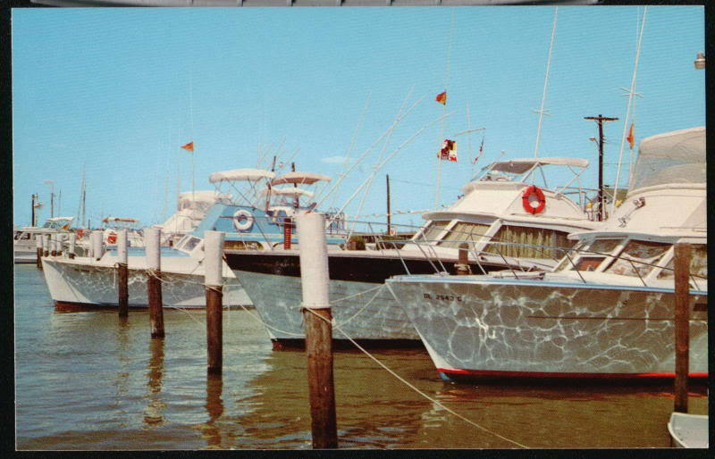 ocean city md deep sea fishing craft boats vtg pc maryland
