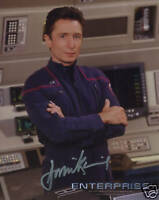 STAR TREK:DOMINIC KEATING AUTOGRAPH PHOTO #1 FROM CREATION ENT