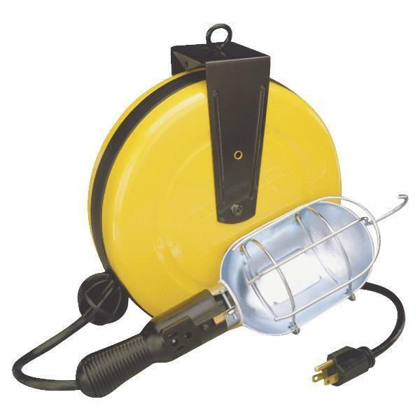 30 Foot Retractable Reel With Work Light EBay