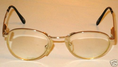 VINTAGE EYEGLASS FRAMES SMALL SIZE GOLD COLOR ROUND 1980s ...