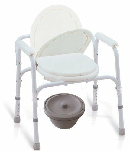 3 In 1 Portable Bedside Commode Travel Size Commode Seat