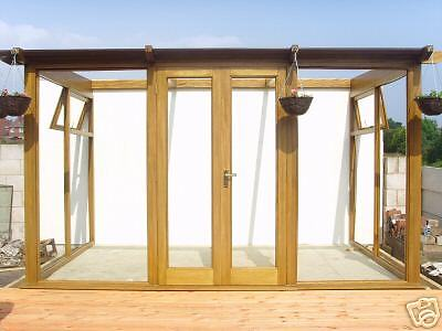 Hardwood Lean To Conservatory 3600 Window And Doors Made