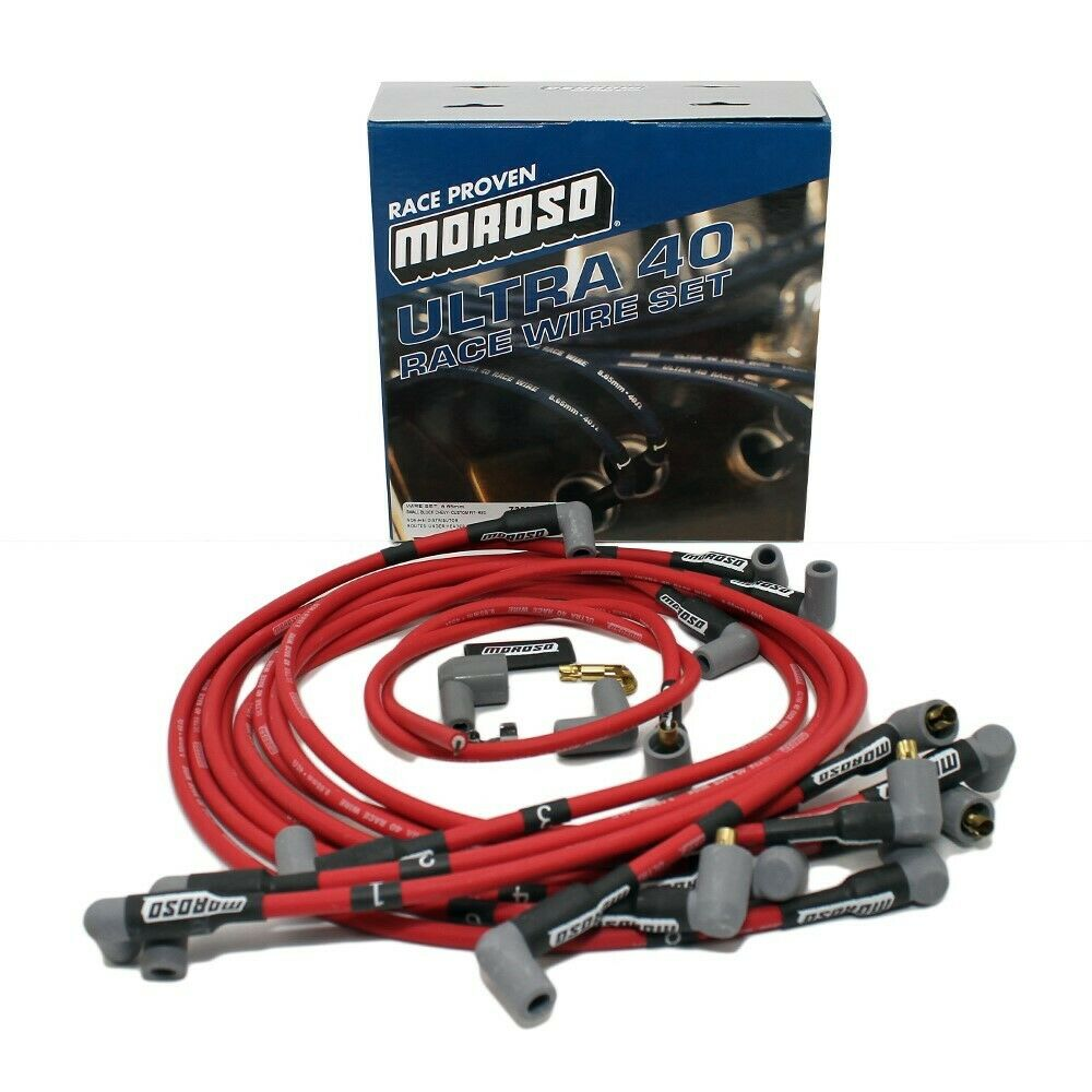 Moroso Ultra 40 Spark Plug Wires Sbc Chevy 350 383 Under