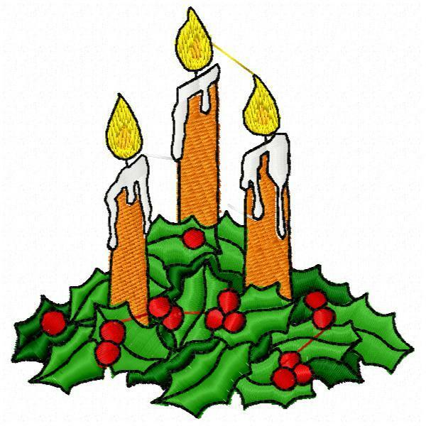 Christmas candles machine embroidery designs ebay