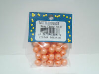 TROUT BEADS MOTTLED CHEESE PEARL 8 MM 1 PACK