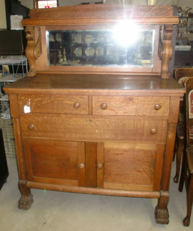 antique sideboards with mirrors antique oak sideboard buffet beveled mirror amp winged 4131