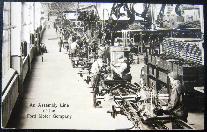 Dearborn Mi Ford Motor Co Rouge Plant Assembly Rppc Ebay
