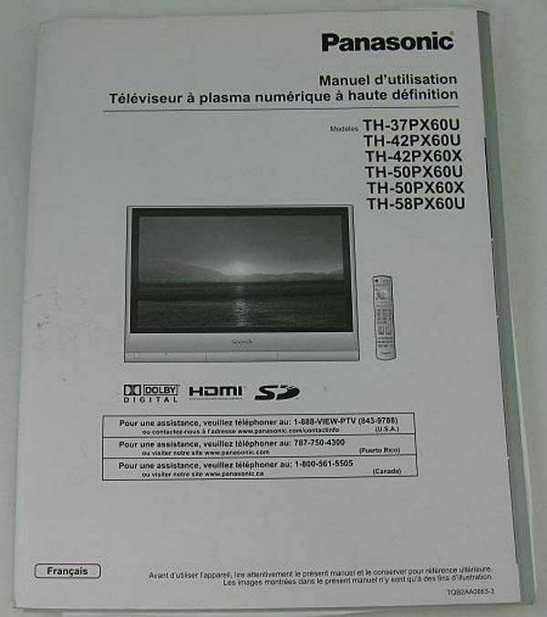 panasonic tv remote control instructions