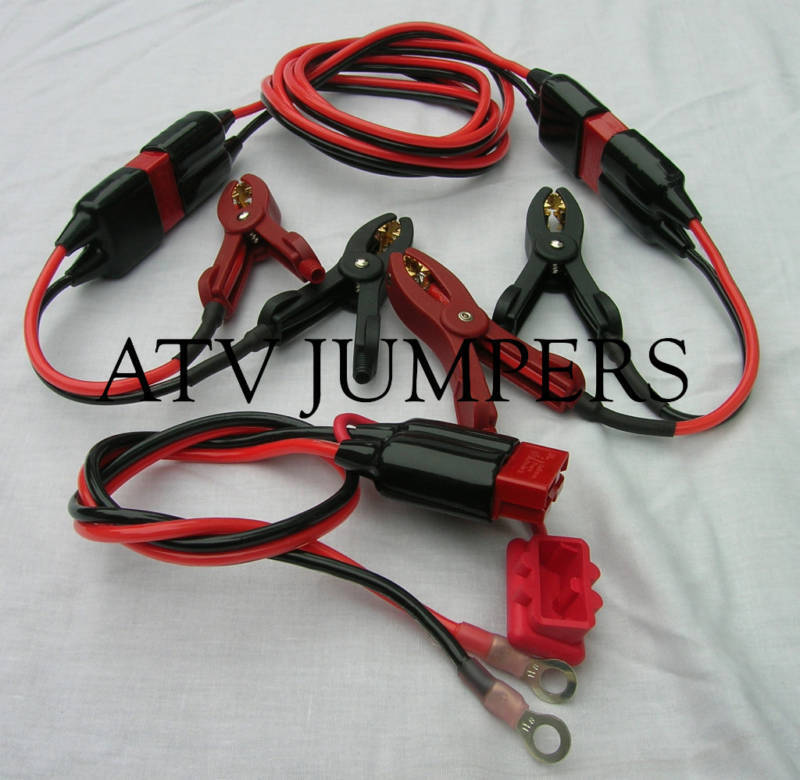 Motorcycle Jumper Cables : Atv jumper cables system battery ebay