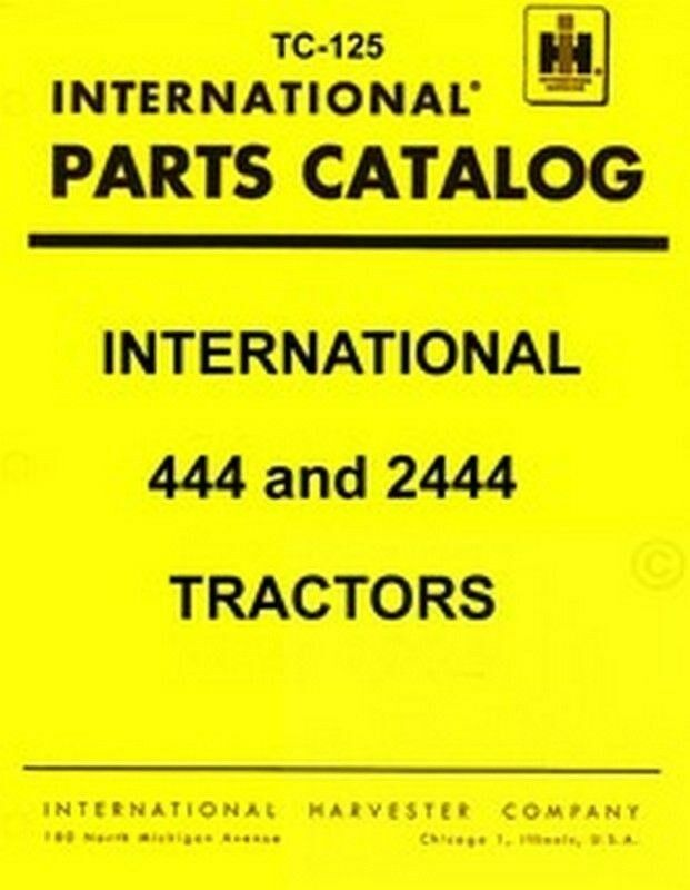 Farmall International 444 2444 Parts Catalog Manual Ih