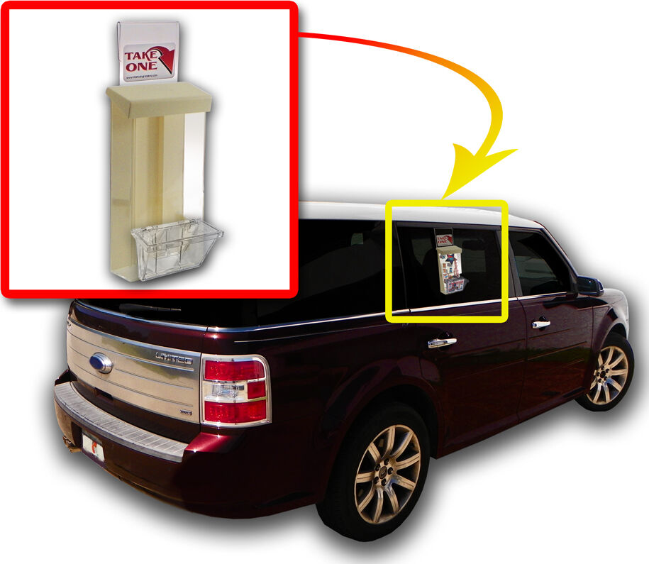 Toy Car Holder Truck : Outdoor brochure flyer with card box holders for