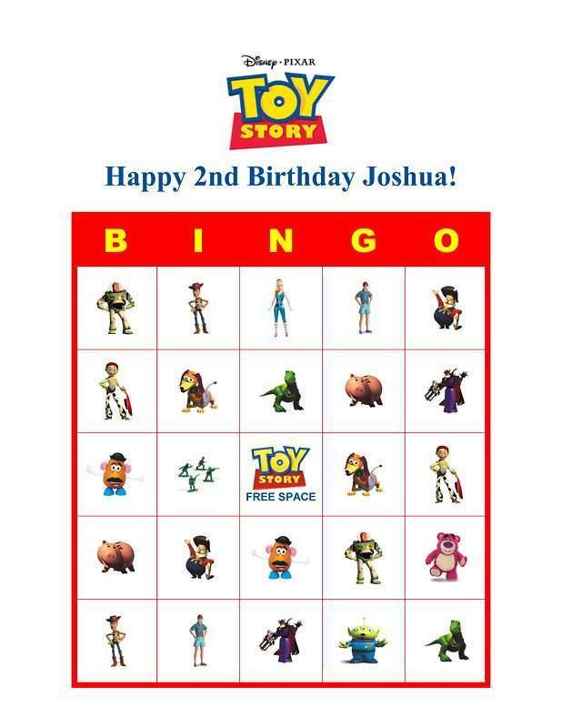 Toy Story Birthday Games : Toy story birthday party game bingo cards ebay