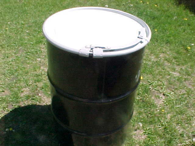 55 Gallon Metal Steel Barrel Barrels Open Top Removable