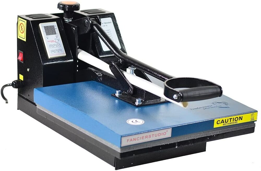 Digital heat press 15x15 t shirt heat press new blk ebay for Thermal transfer printing equipment for t shirt
