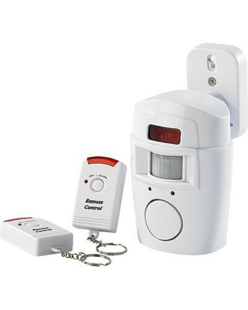 Motion Sensor Portable Wireless Alarm With Remote Control