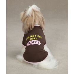 Dog T-Shirt I'm Not Fat Just Fluffy Top Tee XS-MED