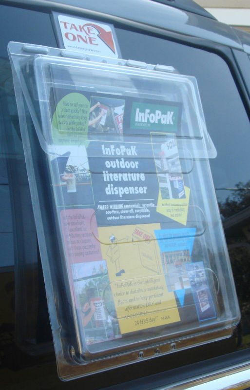 Outdoor vehicle brochure holder 8 5 x11 avon mary kay ebay - Outdoor brochure holders for exterior use ...