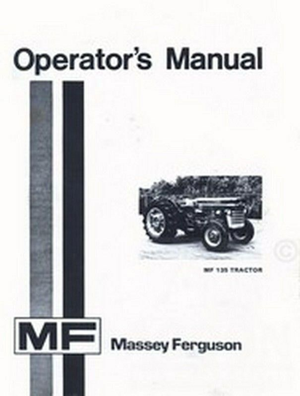 Tractor Manual Thickness : Massey ferguson mf tractor owners operators manual ebay