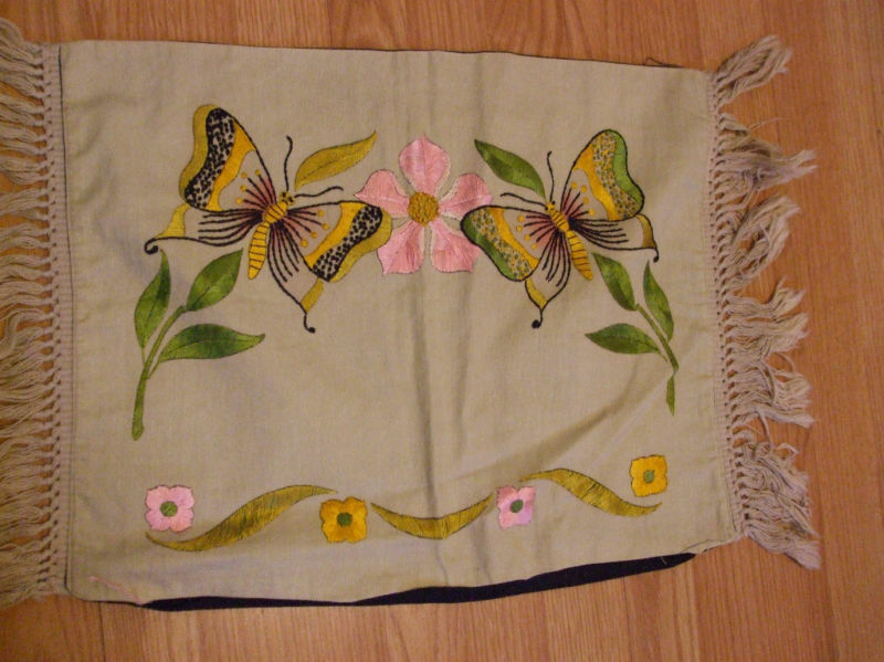 Arts and crafts linen pillow nice design ebay for Arts and crafts decorating style