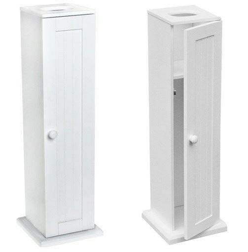 Floor standing toilet loo paper roll holder storage for Loo roll storage