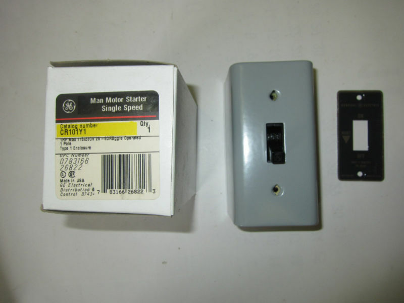 Ge general electric cr101y1 manual motor disconnect for General electric motor starters