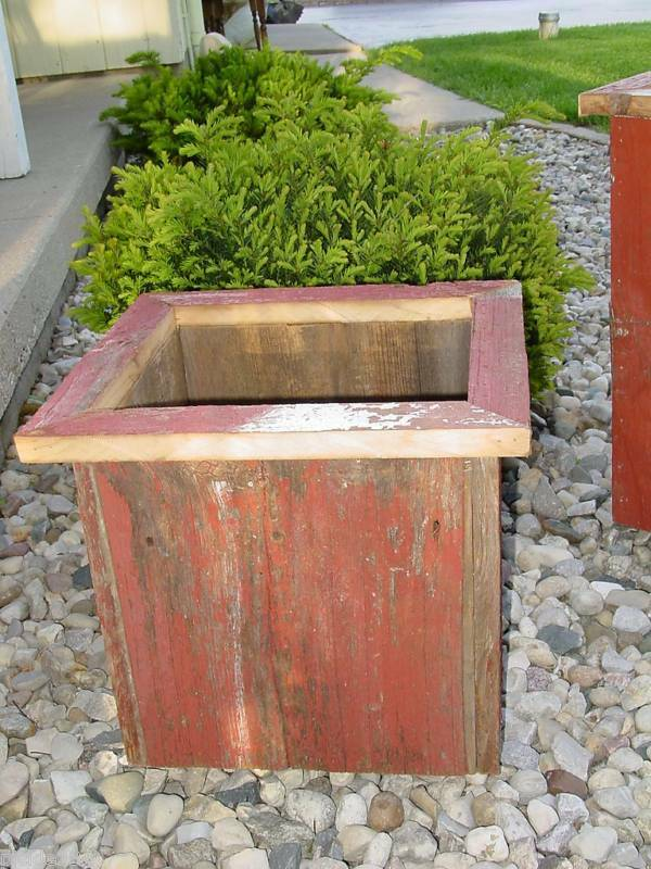 Country Primitive Barn Wood Flower Box Planter Rustic ...