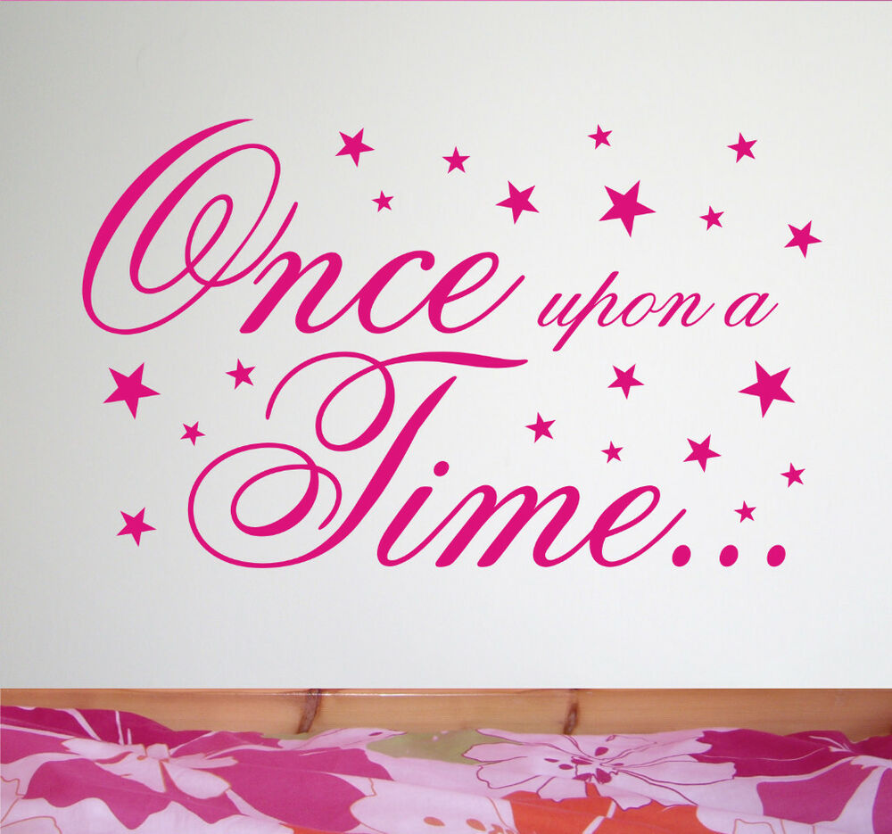 Bedroom Wall Sticker Once Upon A Time Wa251x Ebay