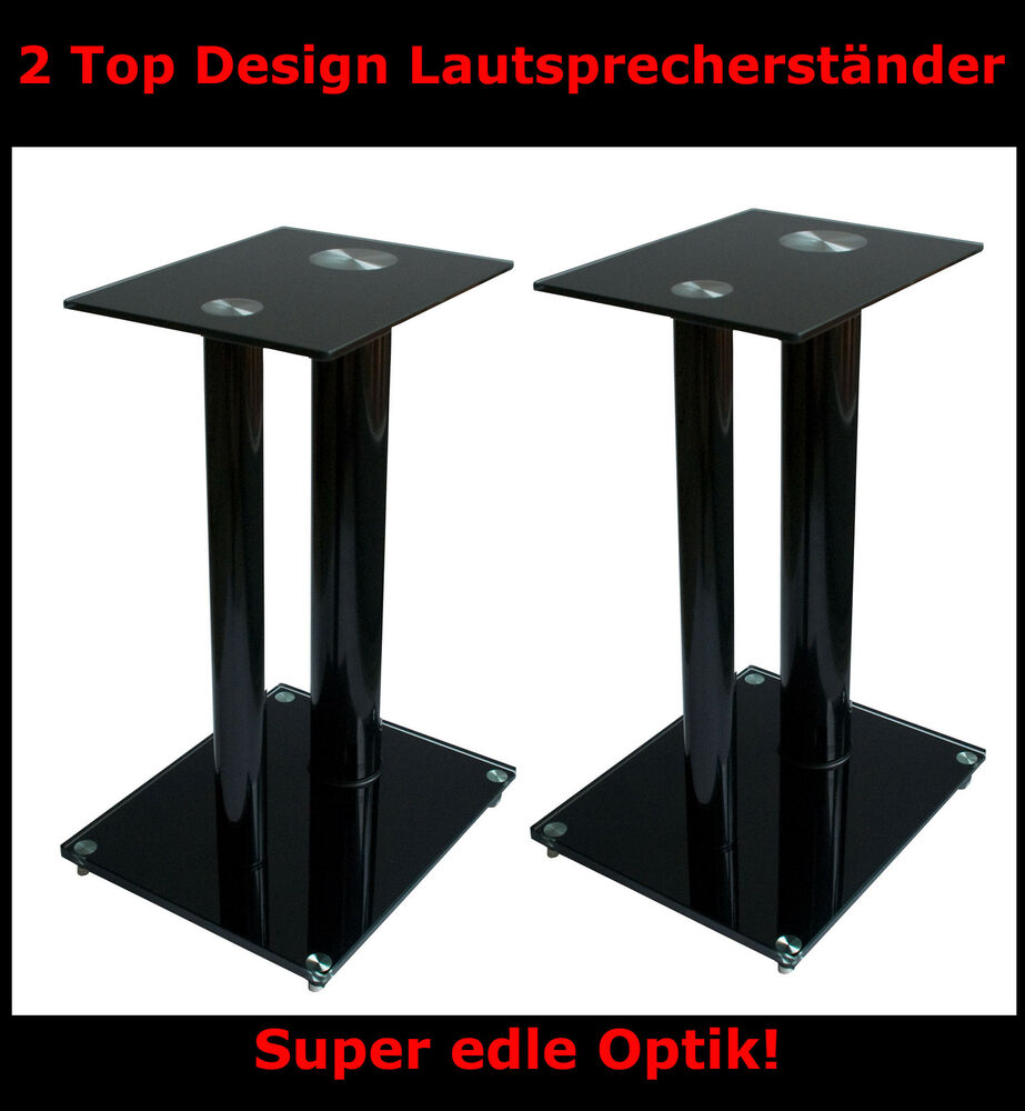 2 x glas lautsprecher st nder boxenst nder boxenstativ ebay. Black Bedroom Furniture Sets. Home Design Ideas