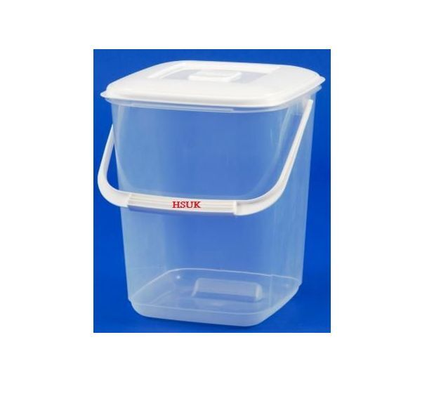 10l Square Plastic Food Storage Container With Handle Lid