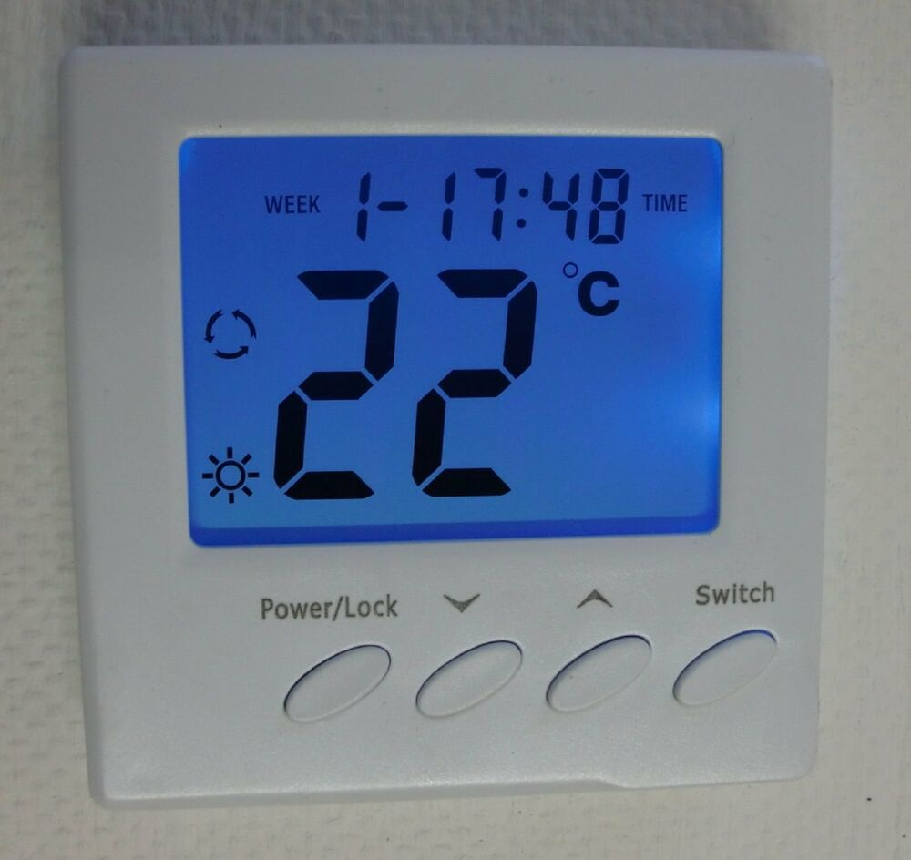 digital raumthermostat f r fussbodenheizung n739 ebay. Black Bedroom Furniture Sets. Home Design Ideas