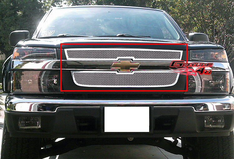 fits 04 12 2012 chevy colorado stainless steel mesh grille grill insert ebay. Black Bedroom Furniture Sets. Home Design Ideas
