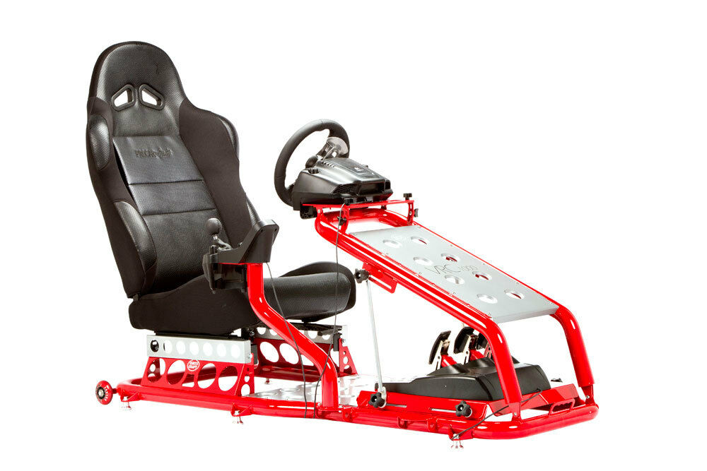 Race Gaming Game Simulation Racing Chair Seat Red Black