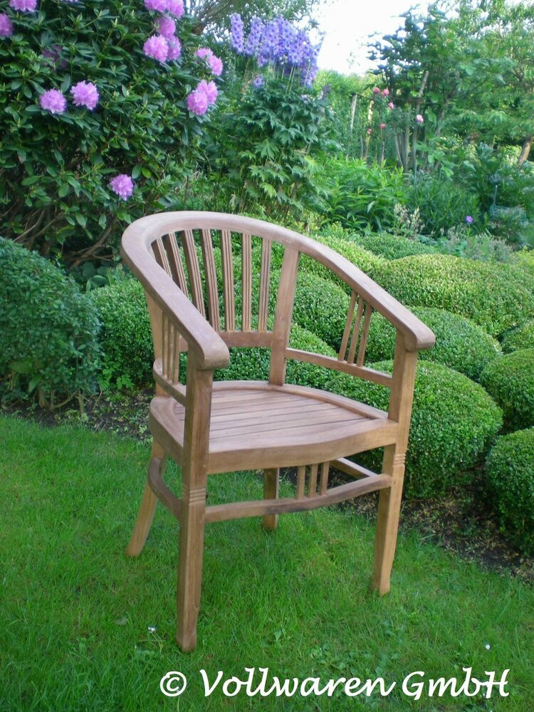 teak garten armlehnstuhl teakholz antik massiv gartenstuhl stuhl sessel m bel ebay. Black Bedroom Furniture Sets. Home Design Ideas