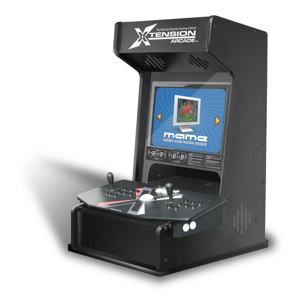 xtension mini arcade cabinet for x arcade tankstick bartop arcade ebay. Black Bedroom Furniture Sets. Home Design Ideas