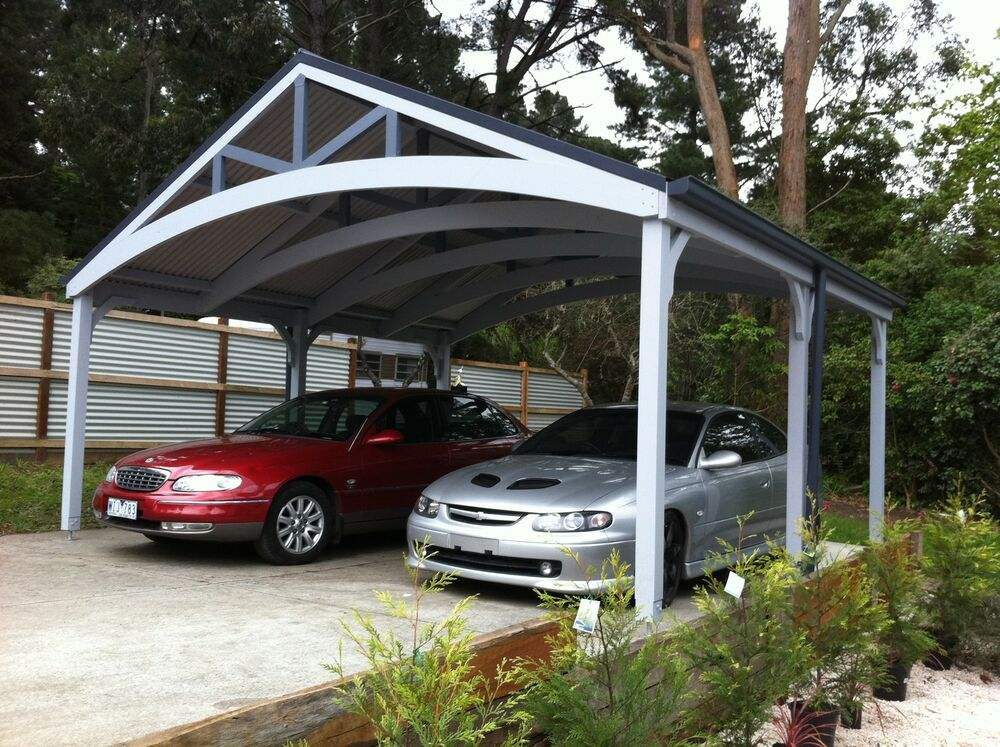 Double carports attractive timber complete kits ebay for Carport one