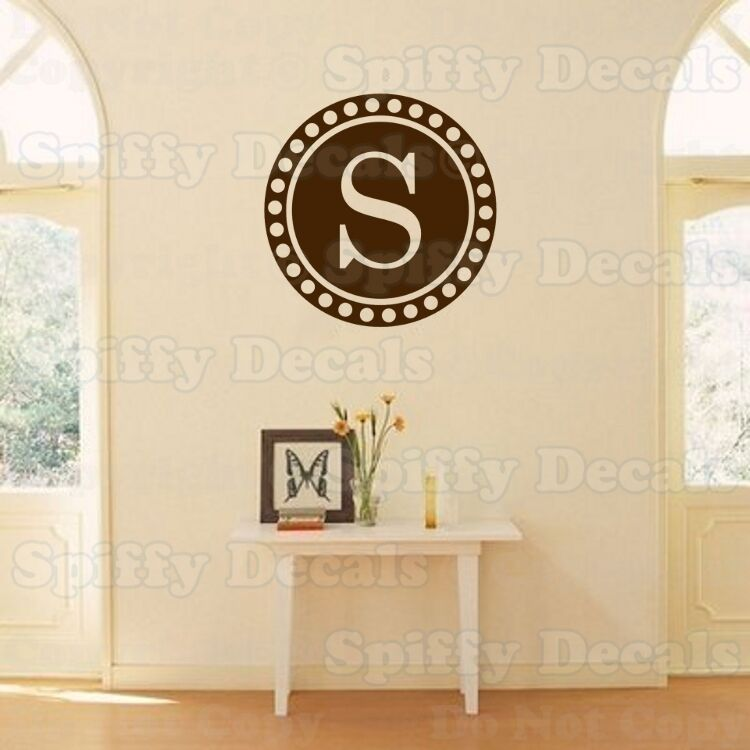 Personalized Circle Family Monogram Vinyl Wall Decal Ebay