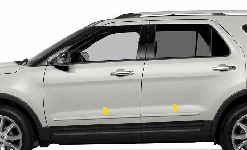 4pc Painted Body Side Moldings Fits 2011 2012 2013 2014 2015 2016 Ford Explorer Ebay